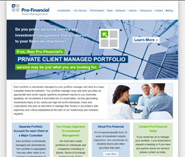 Pro-Financial - Private Client - Home